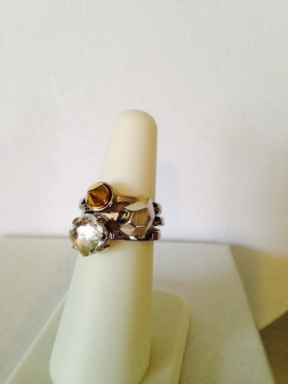 2b. RYCH 3-Piece Set Stackable Silver-Tone Rings, Size 7