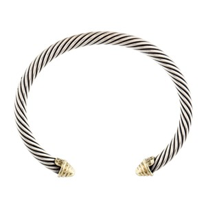 David Yurman 14K yellow gold sterling silver David Yurman Cable Classics cuff