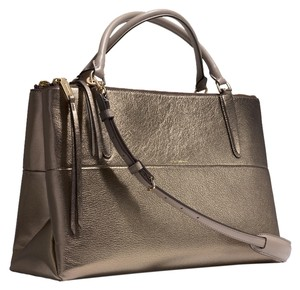 Coach Satchel in Metallic Bronze