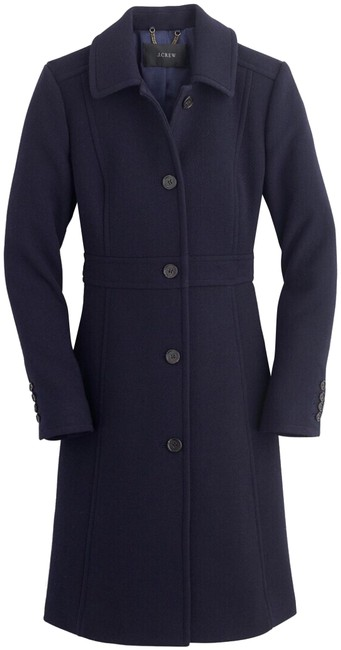 Item - Dark Navy Italian Double-cloth Wool Lady Day with Thinsulate® Coat Size Petite 2 (XS)