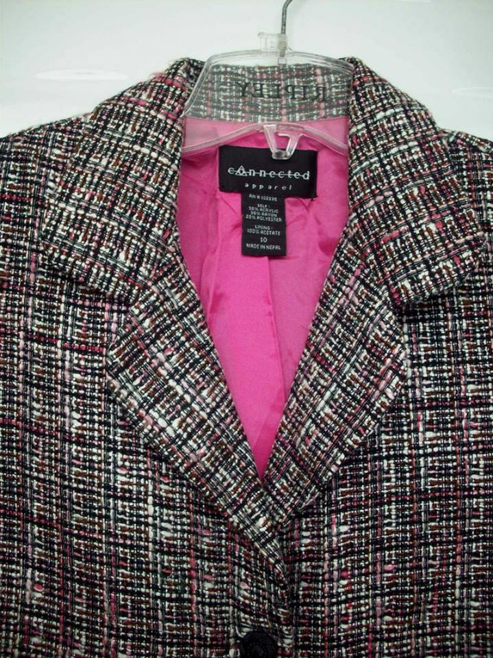 connected apparel pink grey and white plaid blazer coat formal size 8 m tradesy. Black Bedroom Furniture Sets. Home Design Ideas