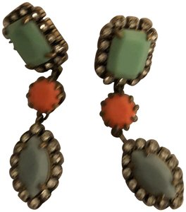 J.Crew JCrew Coral and Turquoise Drop Earrings