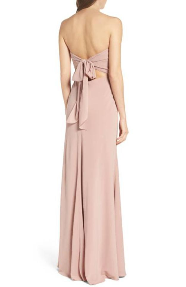 Jenny Yoo Whipped Apricot Kylie Tie Back Strapless Long