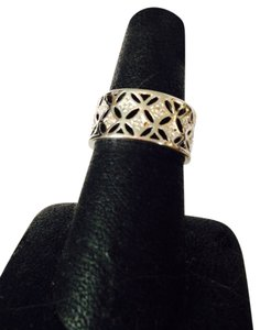 Other NWOT Sterling Silver & Cubic Zirconia Cigar Band , Size 7