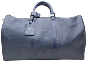 a0c0a708c0d8 Louis Vuitton Cobalt Keepall Damier Keepal Taiga Keepall Keepall Blue Travel  Bag