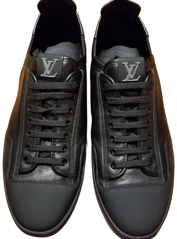 6acffc12c0b Louis Vuitton Black Slalom Match-up In Plain Calf Leather Sneakers Size US  8 Regular (M, B) 38% off retail