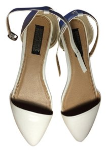 Deena & Ozzy Summer D'orsay Urban Outfitters Ankle Strap Wedding Lightly Worn Stylish Trendy White Flats