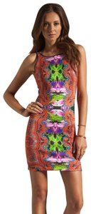 Clover Canyon Orchid Trip Print Fashion Dress