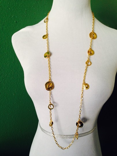 Robert Lee Morris NWOT Multi-Sized Circles Gold-Tone Long Necklace