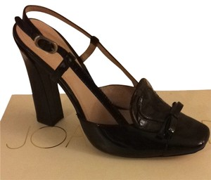Joan & David Black Patent Pumps