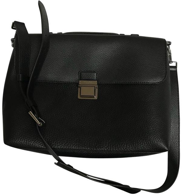 Item - Briefcase Black Leather Laptop Bag