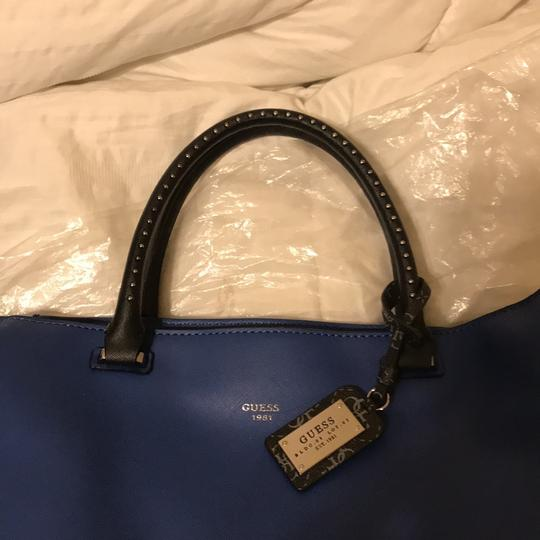 Guess Tote in Dark Blue with Guess black logo