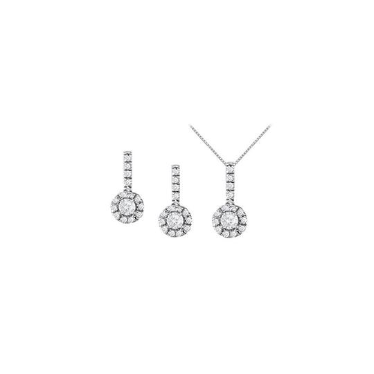 Preload https://img-static.tradesy.com/item/22459744/white-silver-april-birthstone-cubic-zirconia-earrings-and-pendant-in-necklace-0-0-540-540.jpg