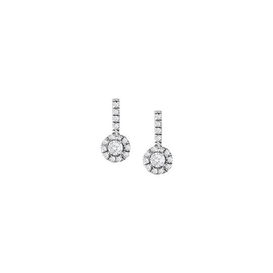 Veronica V. April Birthstone Cubic Zirconia Earrings and Pendant in Silver
