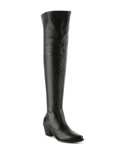Matisse Over The Knee Leather Tall Black Boots
