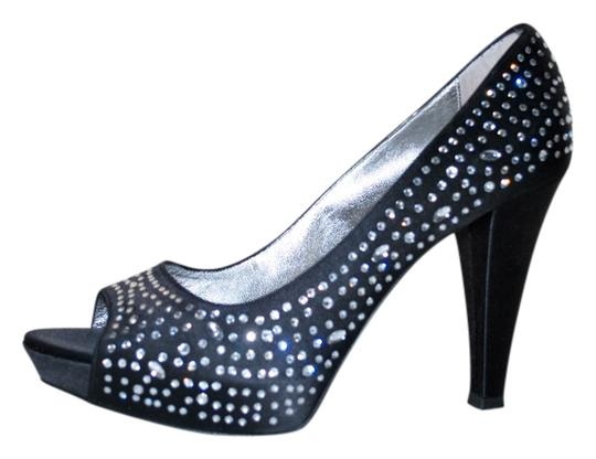 Marina Rinaldi Designer Stunning And Super Comfortable Heels. Size 38/5 Made In Italy BLACK Pumps