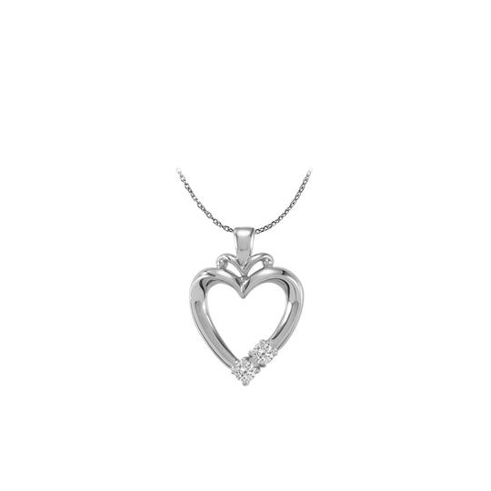 Preload https://img-static.tradesy.com/item/22459795/white-silver-925-two-stone-cz-family-open-heart-pendant-necklace-0-0-540-540.jpg