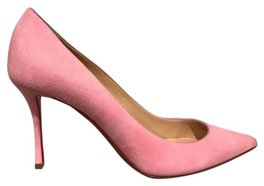 Preload https://img-static.tradesy.com/item/22459797/christian-louboutin-pink-decoltish-85-dolly-suede-point-heel-pumps-size-eu-385-approx-us-85-regular-0-1-540-540.jpg