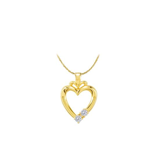 Preload https://img-static.tradesy.com/item/22459863/white-yellow-gold-vermeil-two-stone-cz-open-heart-pendant-necklace-0-0-540-540.jpg