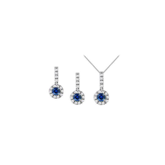 Preload https://img-static.tradesy.com/item/22459868/white-silver-blue-september-birthstone-sapphire-with-cz-halo-earrings-and-pendant-necklace-0-0-540-540.jpg