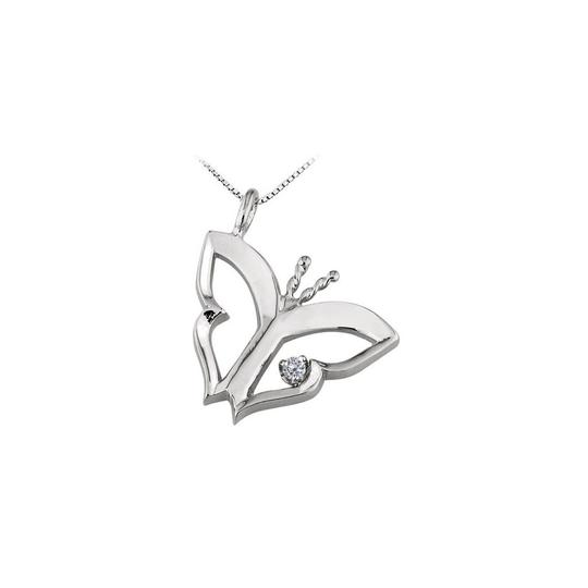 Preload https://img-static.tradesy.com/item/22459878/white-silver-butterfly-pendant-with-cubic-zirconia-in-sterling-015-necklace-0-0-540-540.jpg
