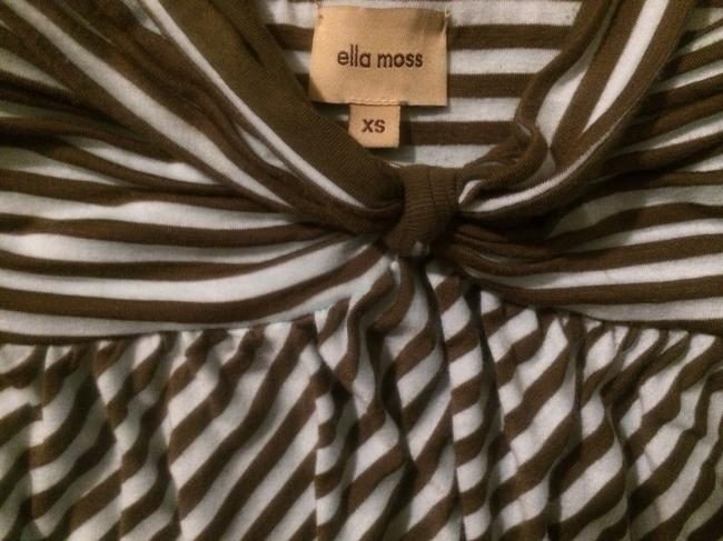 Ella Moss short dress Blue And Brown Stripes on Tradesy