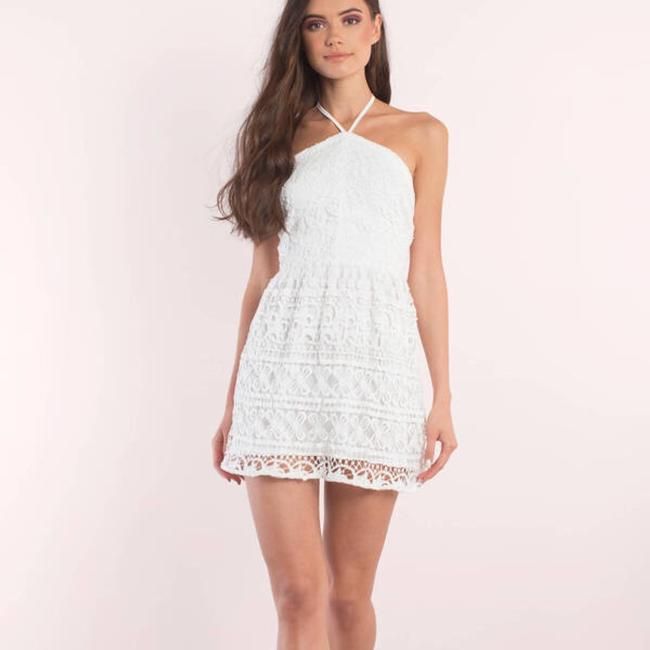 Tobi short dress White Lace Skater Backless on Tradesy
