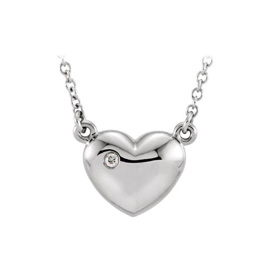 Preload https://img-static.tradesy.com/item/22459918/white-silver-925-sterling-cubic-zirconia-puffed-heart-pendant-necklace-0-0-540-540.jpg