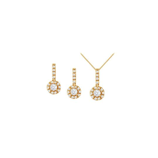 Preload https://img-static.tradesy.com/item/22460073/white-yellow-april-birthstone-cz-halo-earrings-and-pendant-18k-gold-vermeil-necklace-0-0-540-540.jpg
