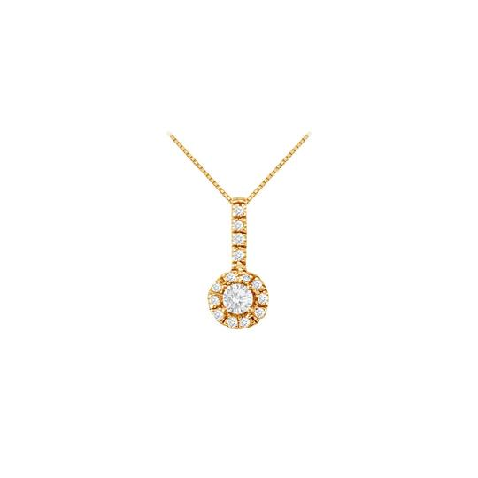 Veronica V. April Birthstone CZ Halo Earrings and Pendant 18K Yellow Gold Vermeil