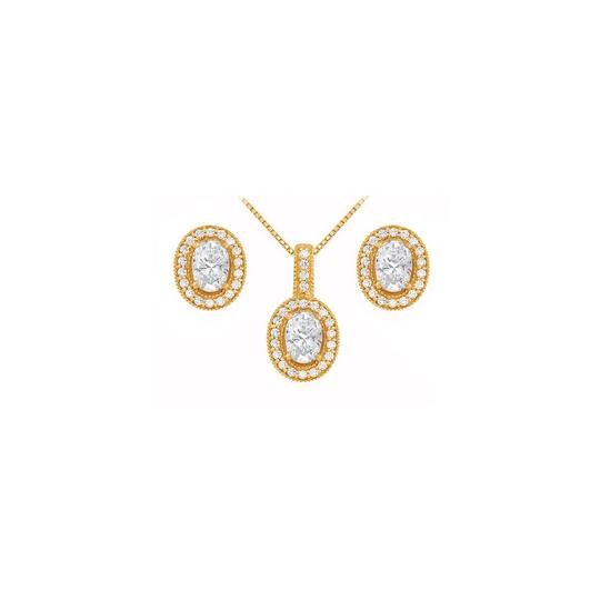 Preload https://img-static.tradesy.com/item/22460117/white-yellow-april-birthstone-oval-cz-earrings-and-pendant-18k-gold-vermeil-necklace-0-0-540-540.jpg