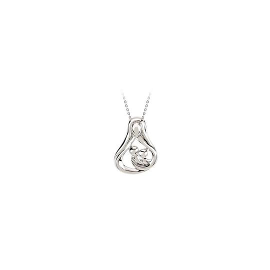 Preload https://img-static.tradesy.com/item/22460122/white-silver-heart-mother-sterling-with-fine-chain-gift-necklace-0-0-540-540.jpg