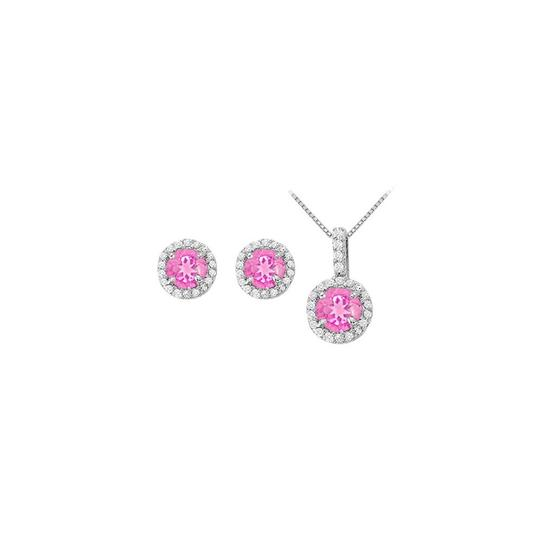 Preload https://img-static.tradesy.com/item/22460159/white-silver-pink-september-birthstone-sapphire-with-cz-halo-earrings-and-pendant-necklace-0-0-540-540.jpg