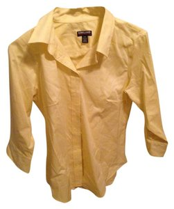 Kirkland's Cotton Spring Button Down Shirt Yellow