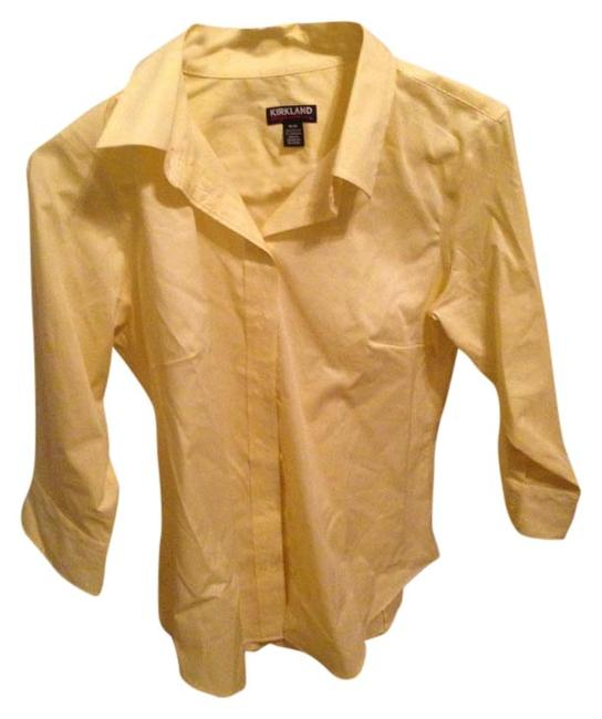 Item - Yellow Cotton Spring Button-down Top Size 8 (M)