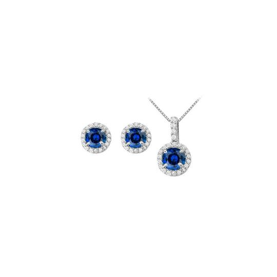 Preload https://img-static.tradesy.com/item/22460181/white-silver-blue-september-birthstone-sapphire-with-cz-halo-earrings-and-pendant-necklace-0-0-540-540.jpg