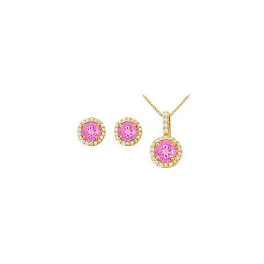 Preload https://img-static.tradesy.com/item/22460231/yellow-white-pink-created-sapphire-with-cz-halo-earrings-and-pendant-necklace-0-0-540-540.jpg