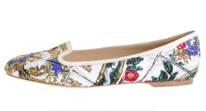 Dolce&Gabbana Sequin Loafer Italy D&g Multicolor Flats