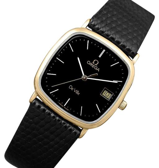 Preload https://img-static.tradesy.com/item/22460342/omega-black-1980-s-de-ville-mens-vintage-midsize-ultra-thin-18k-gold-watch-0-1-540-540.jpg