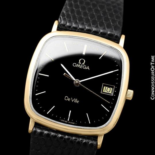 Omega 1980's Omega De Ville Mens Vintage Midsize Ultra Thin Watch - 18K Gold