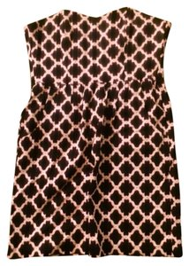 Julie Brown short dress Black, Pink/White on Tradesy