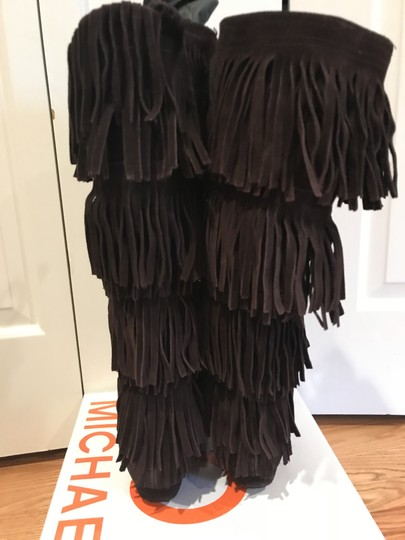 MICHAEL Michael Kors Suede Fringed BROWN Boots