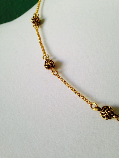 Ralph Lauren Lauren Gold-Tone Monkey Fist Illusion Hoop Earrings Only! Matching Necklace Sold Seperately.