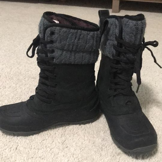 The North Face black with grey top Boots