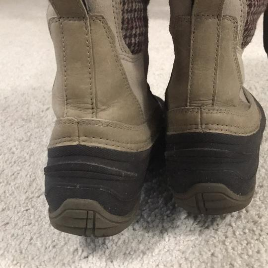 The North Face brown/ plaid / khaki Boots