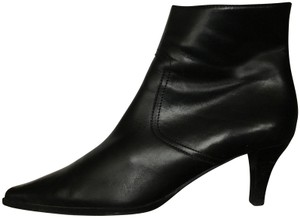 Coach Leather Kitten Black Boots