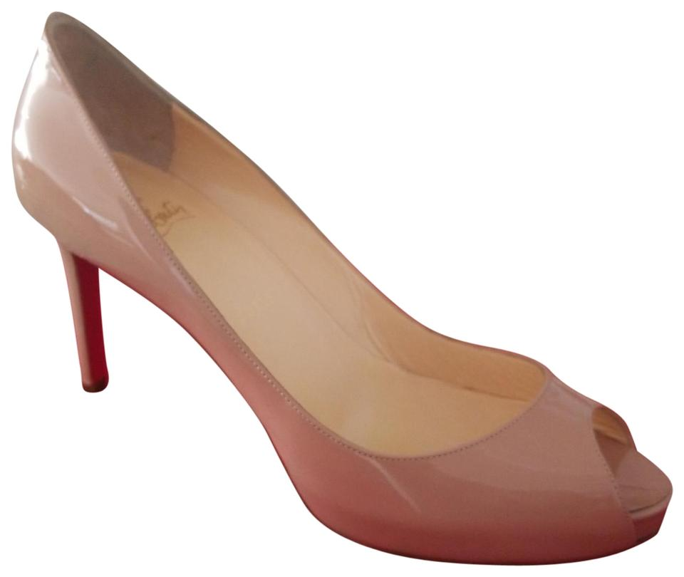 best sneakers ee821 a0fe3 Christian Louboutin Beige Leather No Matter 85 Patent Retail Price. Eu 38.  Heel Is 3 Inches. Worn Only Two Dust Pumps Size US 8 Regular (M, B) 43% off  ...