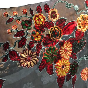 Other Silk sequins decorated square scarf