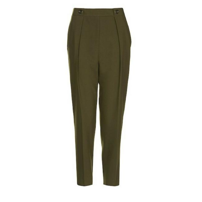 Preload https://img-static.tradesy.com/item/22461075/topshop-olive-grommet-pleated-women-s-trousers-size-12-l-32-33-0-0-650-650.jpg