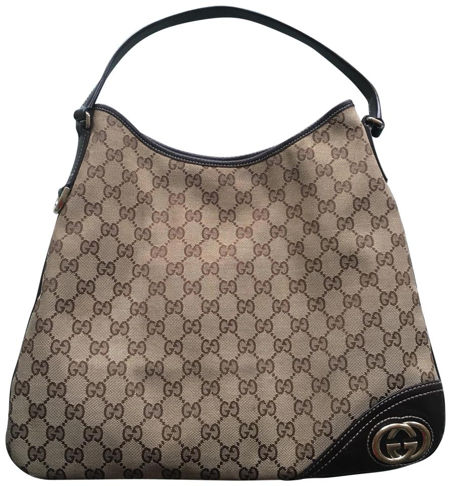 b676a86104a Gucci Gg Twins Large Brown Leather Hobo Bag - Tradesy
